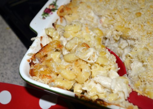 Crab and brie mac n cheese